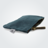 Kennedy Smith Design - Waxed Canvas Clutch Teal