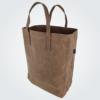 Kennedy Smith Design - Waxed Canvas Grocery Bag Chocolate
