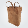 Kennedy Smith Design - Waxed Canvas Grocery Bag Desert Brown
