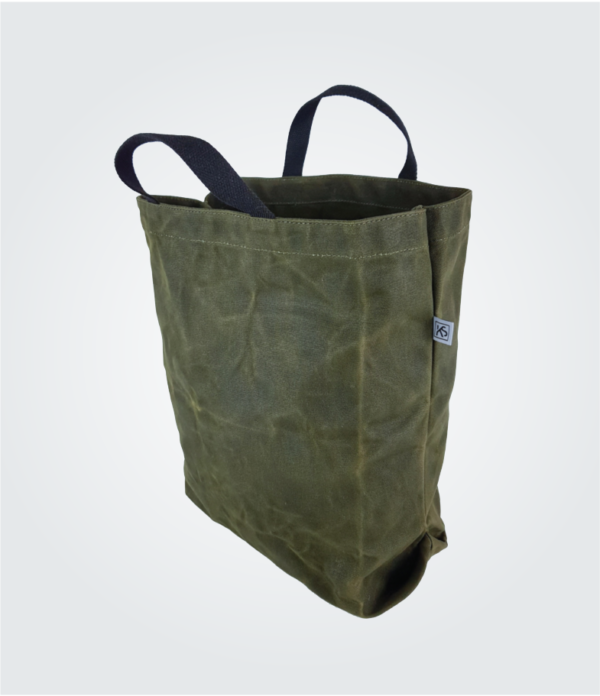 Kennedy Smith Design - Waxed Canvas Shopping Tote Forest Green