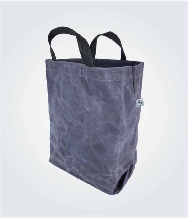 Kennedy Smith Design - Waxed Canvas Shopping Tote Steel