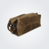Kennedy Smith Design - Waxed Canvas Toiletry Bag Desert Brown