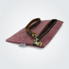 Kennedy Smith Design - Waxed Canvas Zipper Clutch Coral Red
